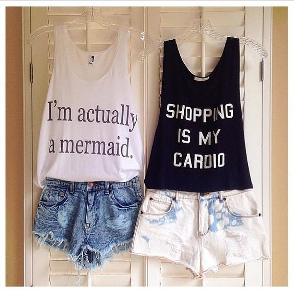 shirt t-shirt mermaid shorts