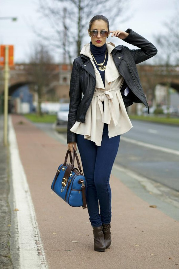 from brussels with love jeans blouse coat t-shirt jacket bag