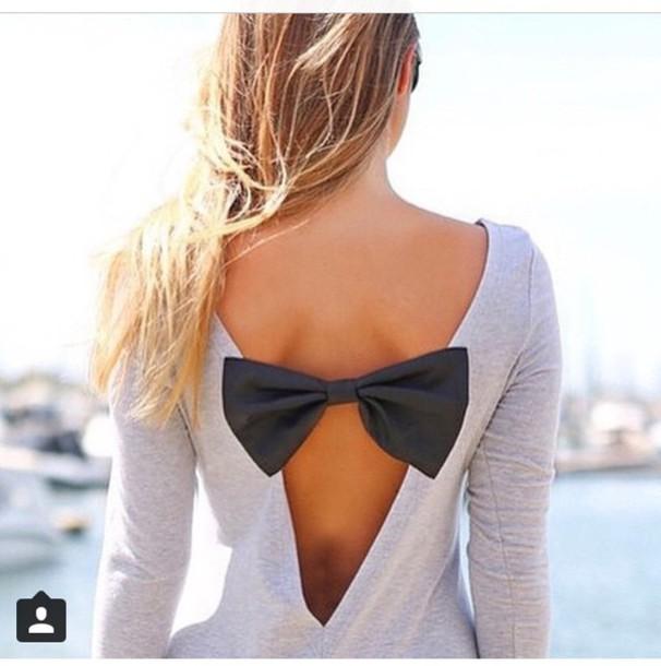 shirt bow back shirt