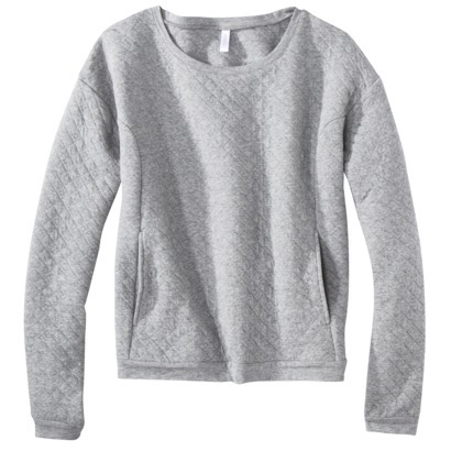 Xhilaration® Junior's Quilted Sweatshirt - A... : Target