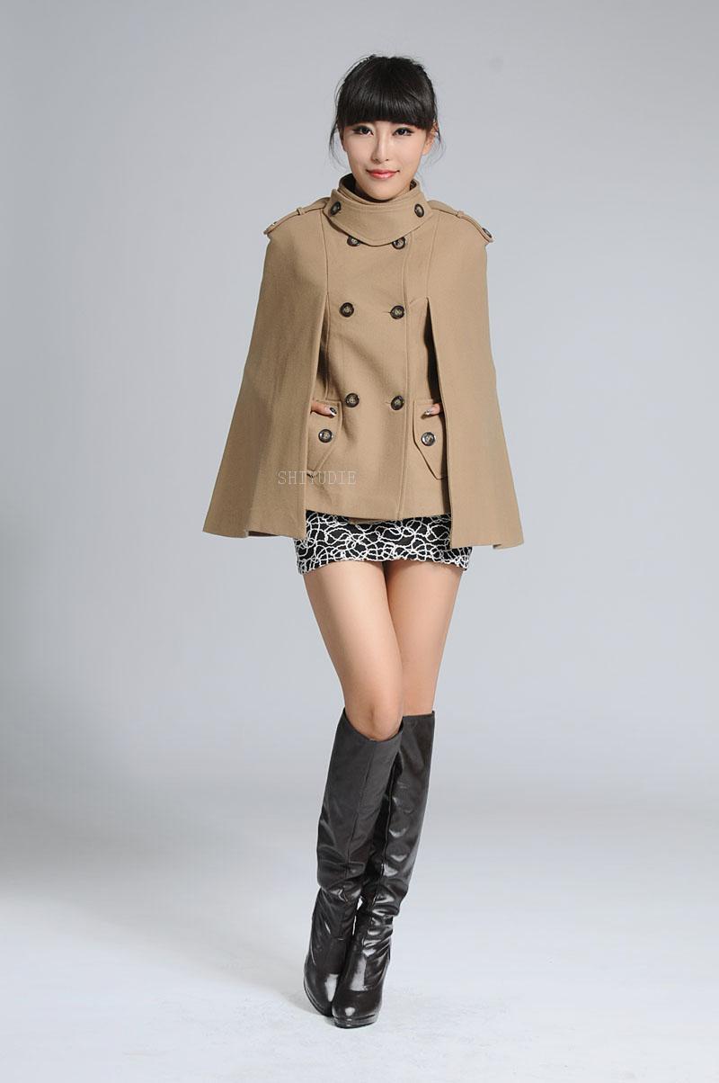 2012 autumn and winter women fashion woolen cloak woolen overcoat cape outerwear free shipping N483-inWool & Blends from Apparel & Accessories on Aliexpress.com