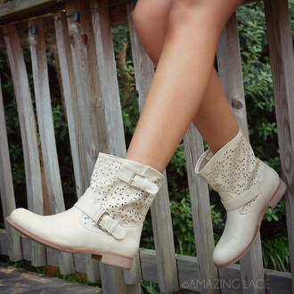 shoes boots ankle boots trendy low heel buckle detail southwestern