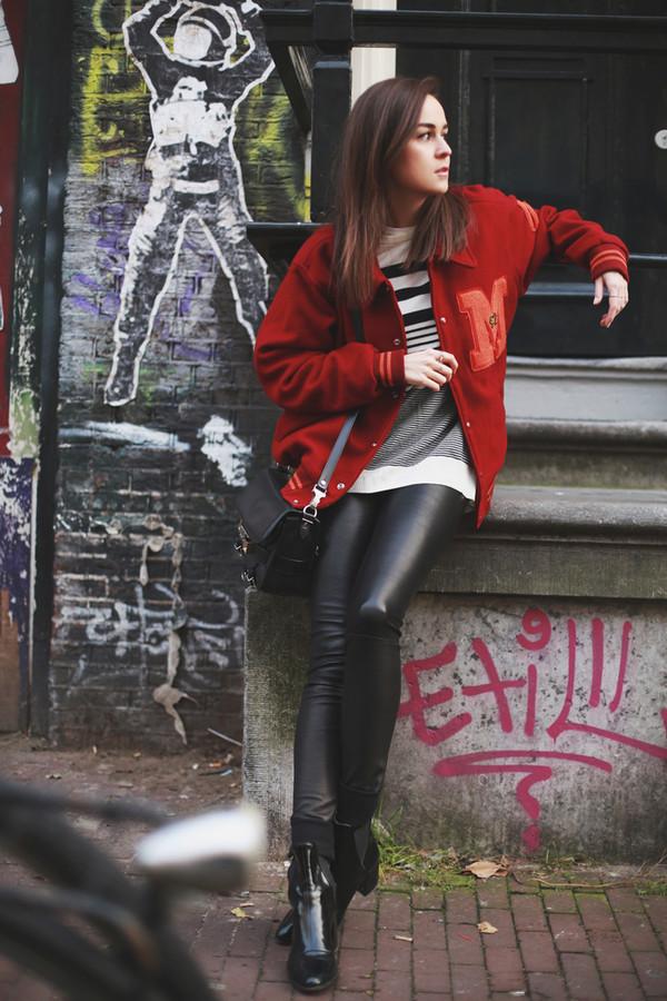 style scrapbook jacket pants shoes bag sweater