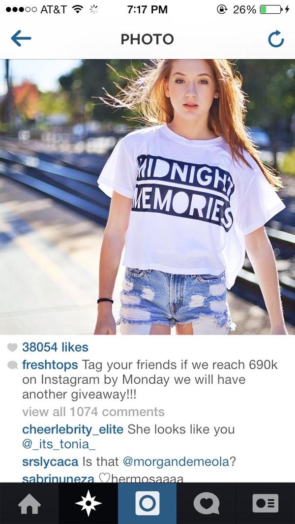 shirt one direction shorts