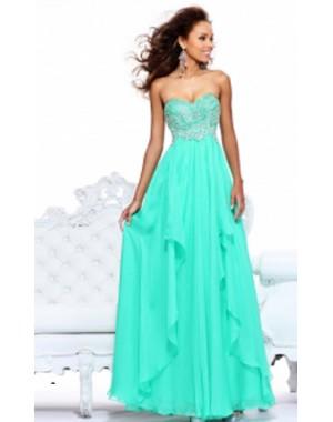 Sweetheart Long Sherri Hill 3874 Prom Gown 2014