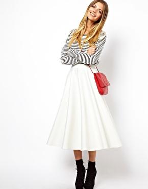 ASOS   ASOS Full Midi Skirt in Scuba at ASOS