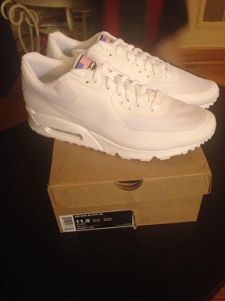 Nike Air Max 90 Hyp QS White Sz 11 5 Hyperfuse Independance USA Yeezy Kanye   eBay