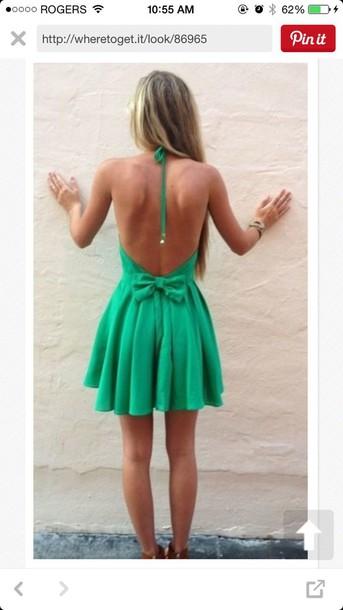 dress backles dress green dress