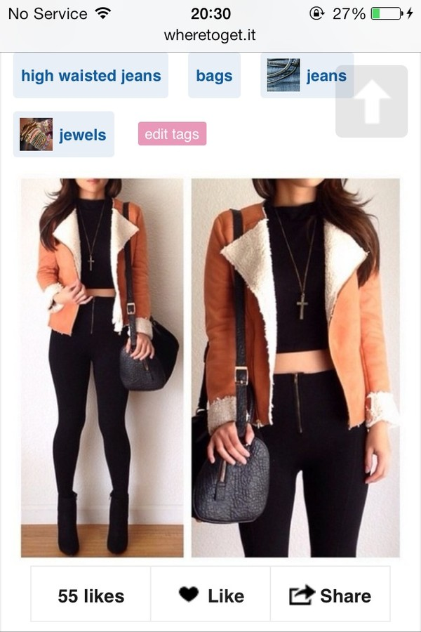 jacket bag shoes high waisted jeans jewelry jeans coat
