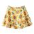 ROMWE | ROMWE Sunflower Print Pleated Zippered Denim Skirt, The Latest Street Fashion
