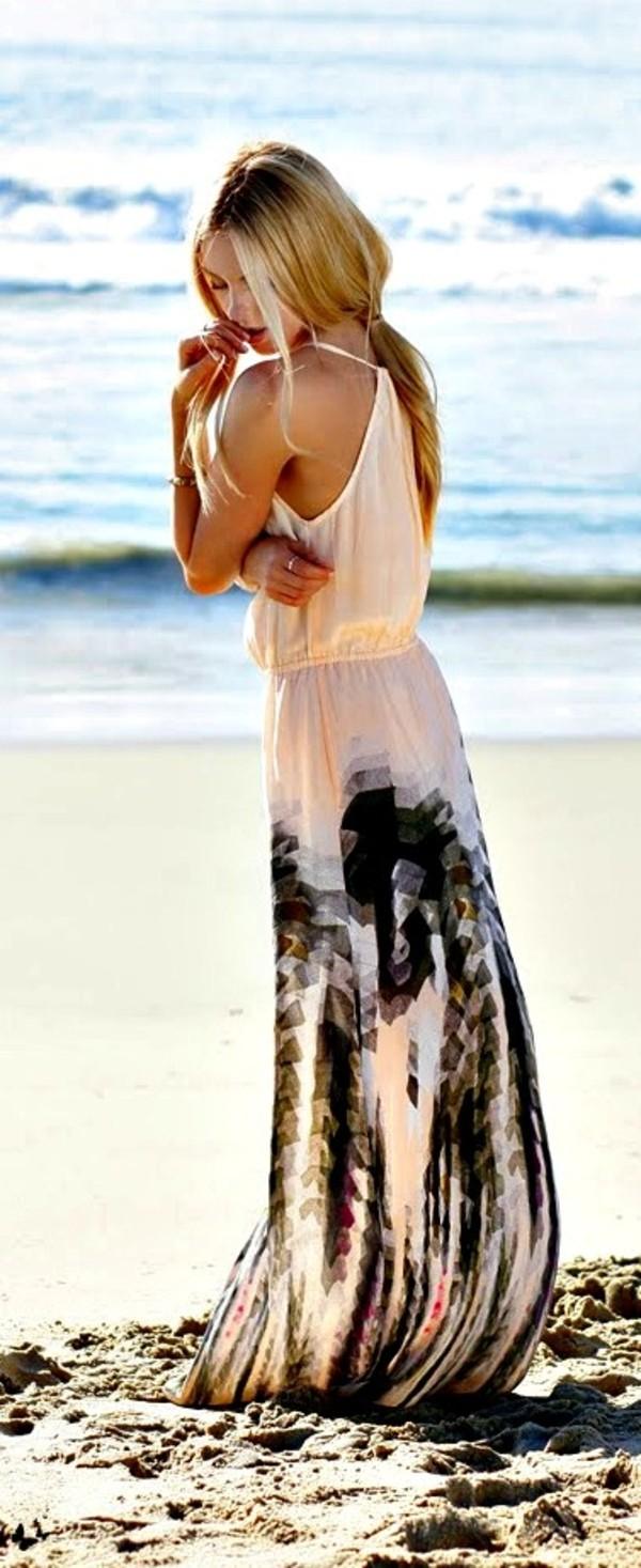 dress maxi dress maxi dress black and white beach flowy dress maxi black white pattern clothes boho beach mexico blush blush dress details peach black maxi