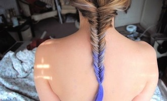jewels hair dye lavender dip dyed