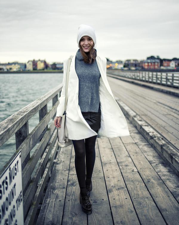 anouska proetta brandon hat coat sweater skirt shoes