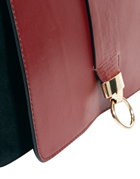 ASOS | ASOS Leather Cross Body Bag With Door Knocker Detail at ASOS