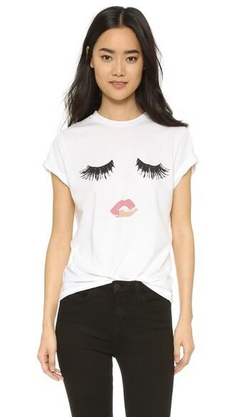 lips white top