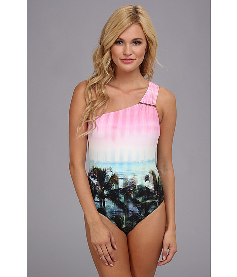Ted Baker Annnie Palm Tree Paradise Swimsuit Light Pink - Zappos.com Free Shipping BOTH Ways