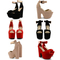 New ladies platform high chunky heel peep toe ankle strap sandals shoes size uk | ebay