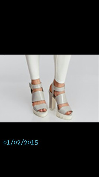 shoes light grey strappy heels
