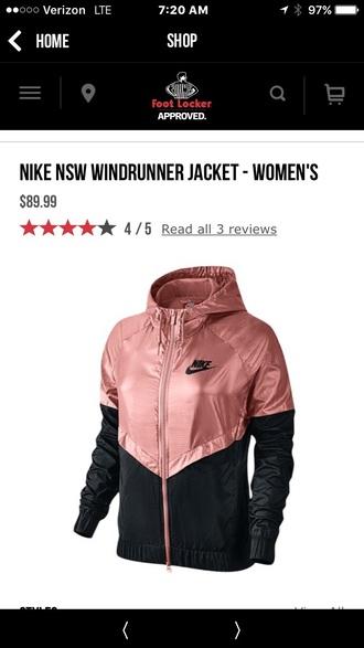 jacket nike black rose gold nike windbreaker windbreaker