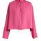 Long-sleeved silk blouse