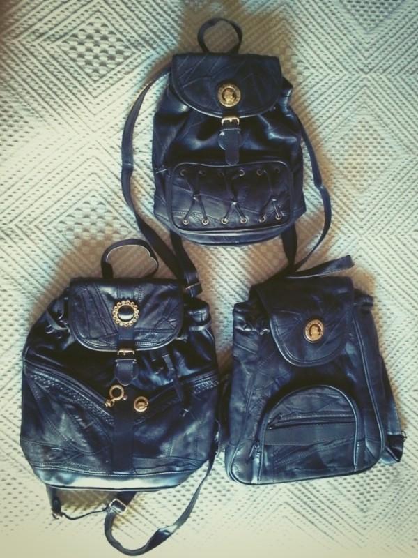 bag leather vintage bag vintage bag black bag black bag backpack