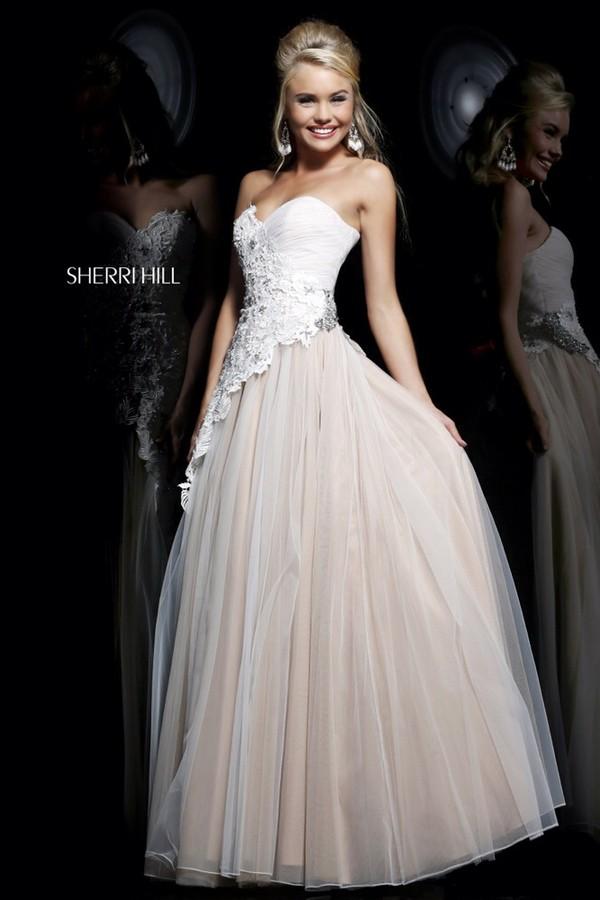 dress white dress beautiful sherri hill prom dress sherri hill white prom dress