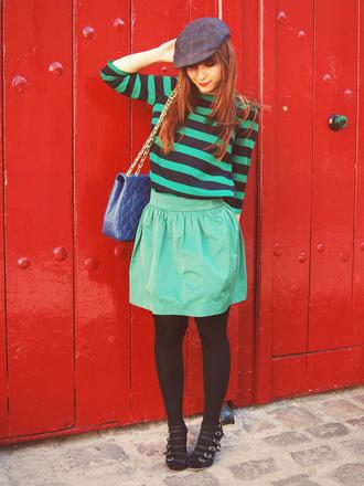 valentine green skirt skirt