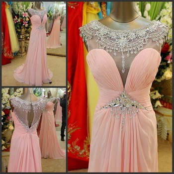 Aliexpress.com : Buy Free shipping!2013 New Arrival!Strapless Mermaid Ruffles Beading Chiffon Pink Zip Up long evening dress from Reliable dress 2013 suppliers on No.1 SuZhou Wonderful Evening& wedding dress store