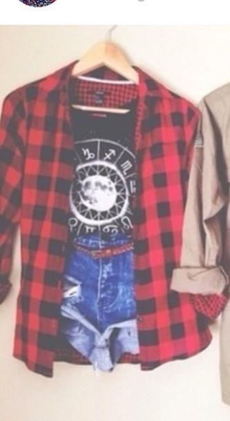 coat jeans t-shirt blouse