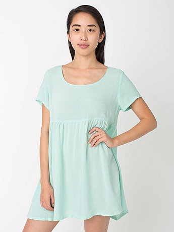 Rayon Babydoll Dress     American Apparel