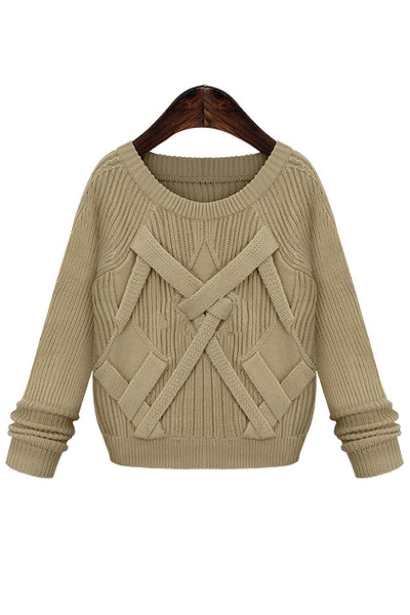 2013 Autumn & Winter New Section Fashion Crewneck Ladies Knitted Sweater,Cheap in Wendybox.com