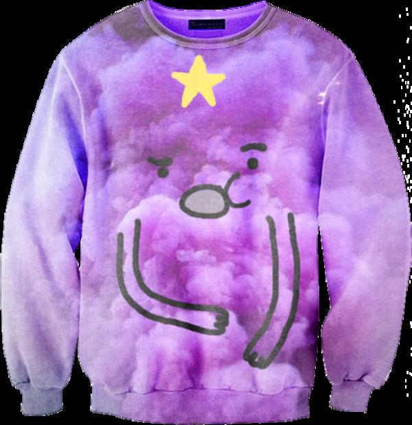 sweater cartoon cartoon purple jumper clothes