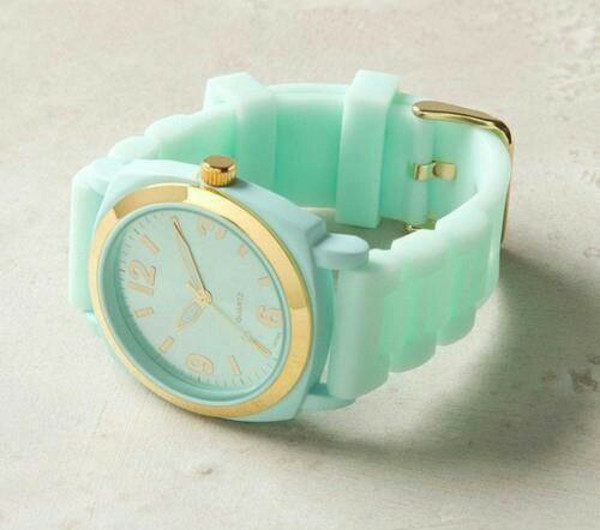 jewels watch green mint style