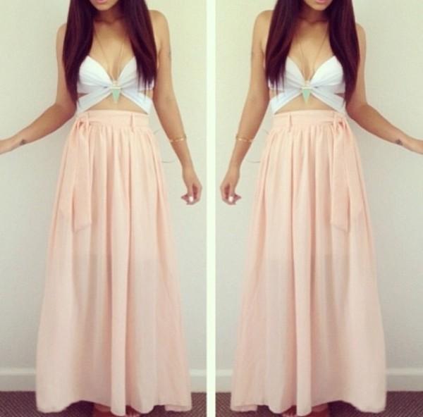 tank top skirt jhene aiko free long skirt