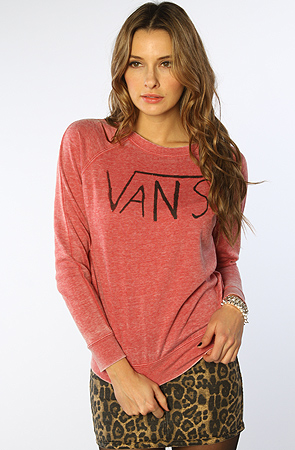 Vans Crewneck in Red -  Karmaloop.com