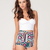 Buy Motel Hilly High Waist Hot Pant in Aztec Print at Motel Rocks
