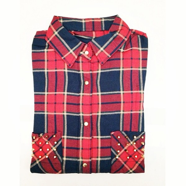 blouse plaid shirt shirt button down plaid flannel fashion fashionista style stylish instagram look of the day