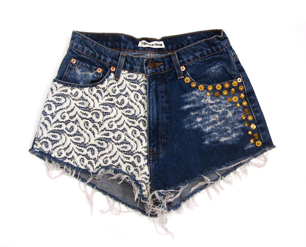 Lace Cutoff Shorts | Created by Fortune