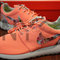 Very rare! - nike roshe run coral pink rose finish floral print custom womens size 10