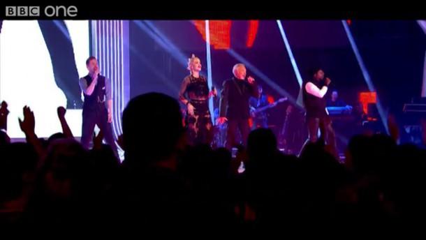 the voice rita ora two-piece lace skirt lace top co-ordinates