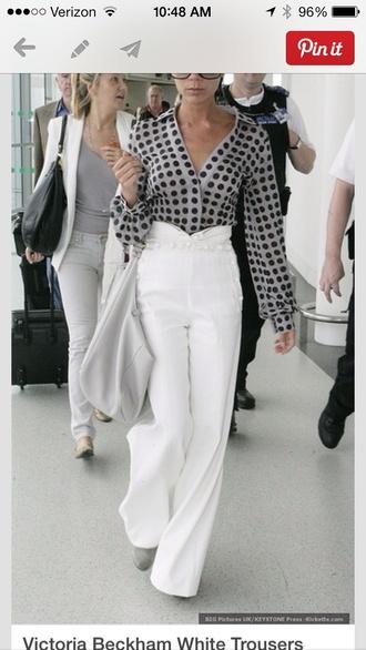 pants jeans victoria beckham blouse