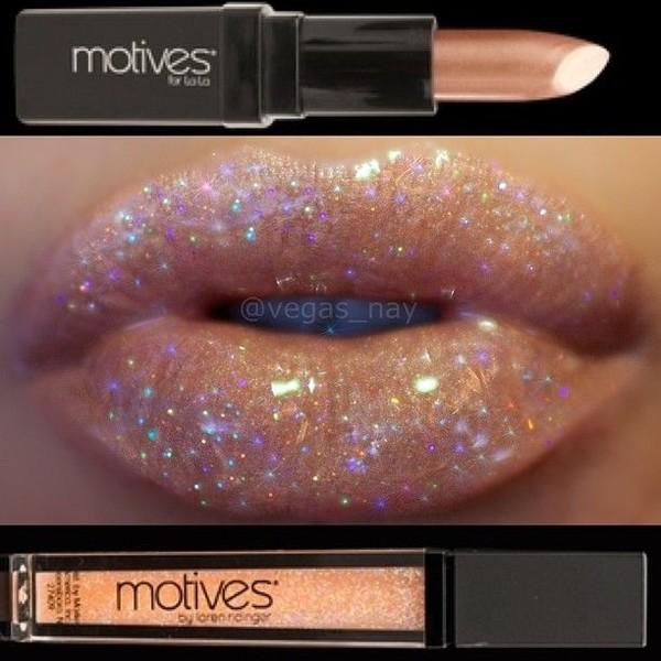 nail polish sparkle lip gloss glitter nude lipstick