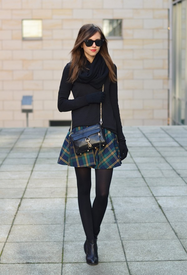 vogue haus sweater skirt shoes bag scarf jewels sunglasses