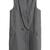 ROMWE | White Strips Grey Long Woolen Vest, The Latest Street Fashion