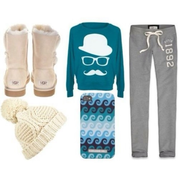 sweater pants hat jewels shoes phone cover