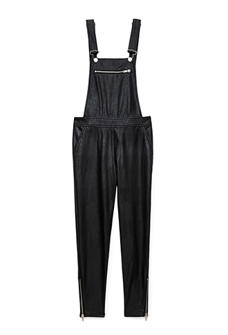 Standout Faux Leather Overalls   FOREVER 21 - 2000092174