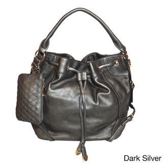 Jessica's Secret Drawstring Hobo Shoulder Bag | Overstock.com Shopping - The Best Deals on Hobo Bags