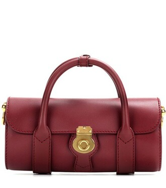bag leather red