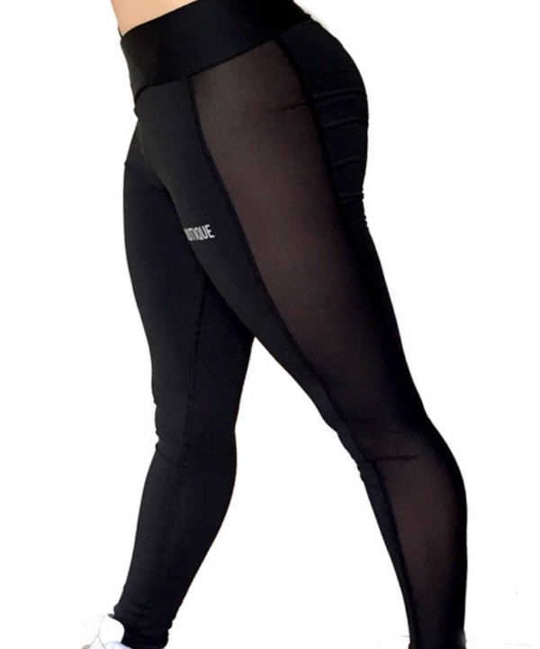 Workout Leggings With Mesh Panels - Trendy Clothes