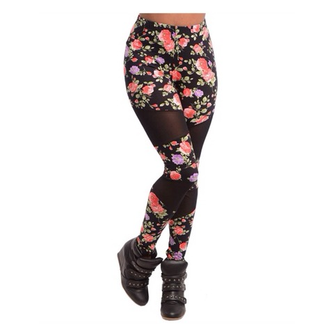 Floral Mesh Inset Leggings | Forever Mint | Online Store Powered by Storenvy